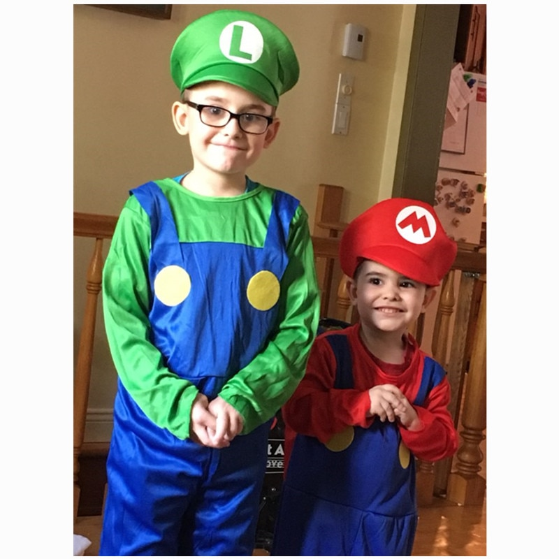 Super Mario Brothers Costume For Boys Kid Loves Toys