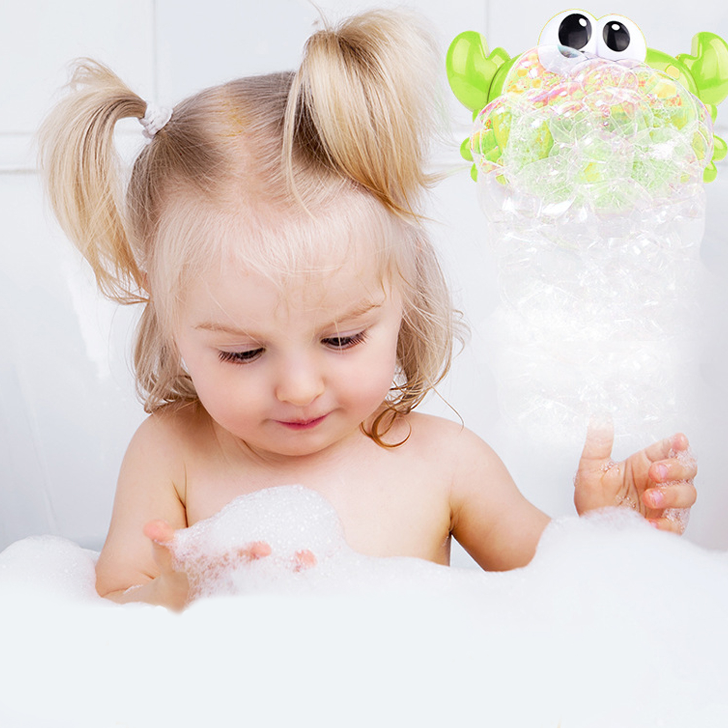 Baby Bath Toys Funny Bubble Maker Frog With Music Kid